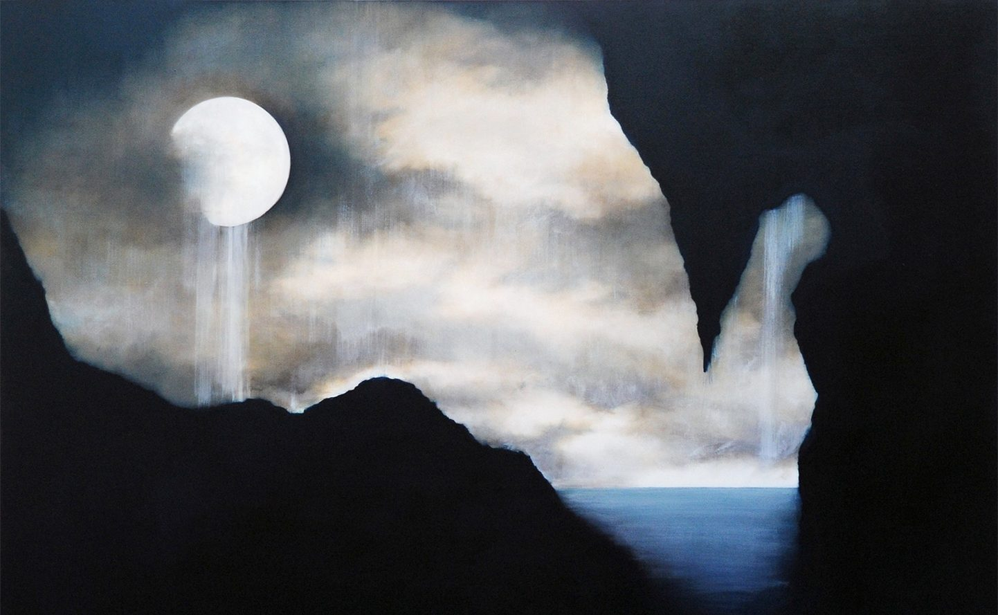 One moon Many Waters - Oil on Linen